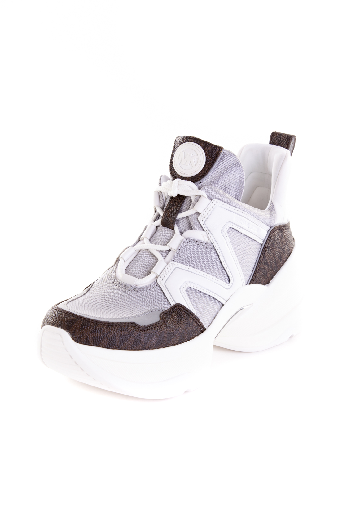 MICHAEL KORS OLYMPIA TRAINER silver white
